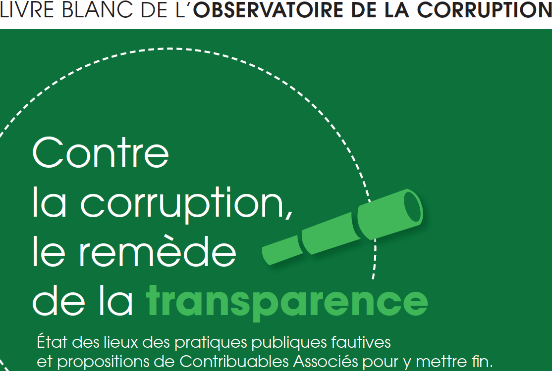 Contre la corruption, le remède de la transparence