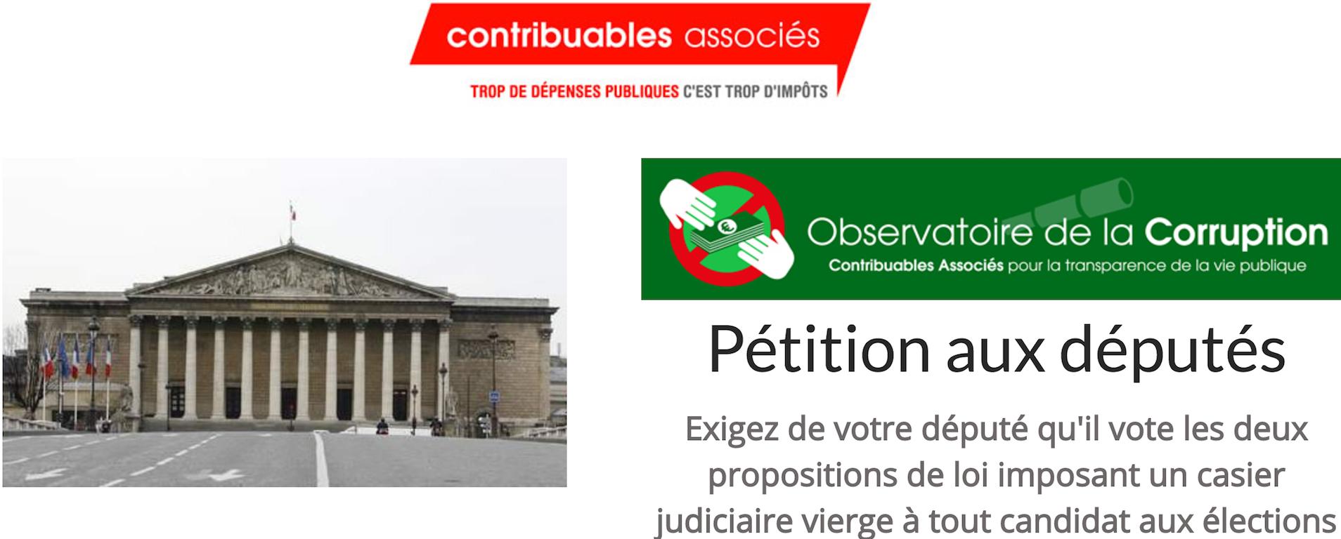 PÉTITION: Exigez Un Casier Judiciaire Vierge Pour Des élus Propres
